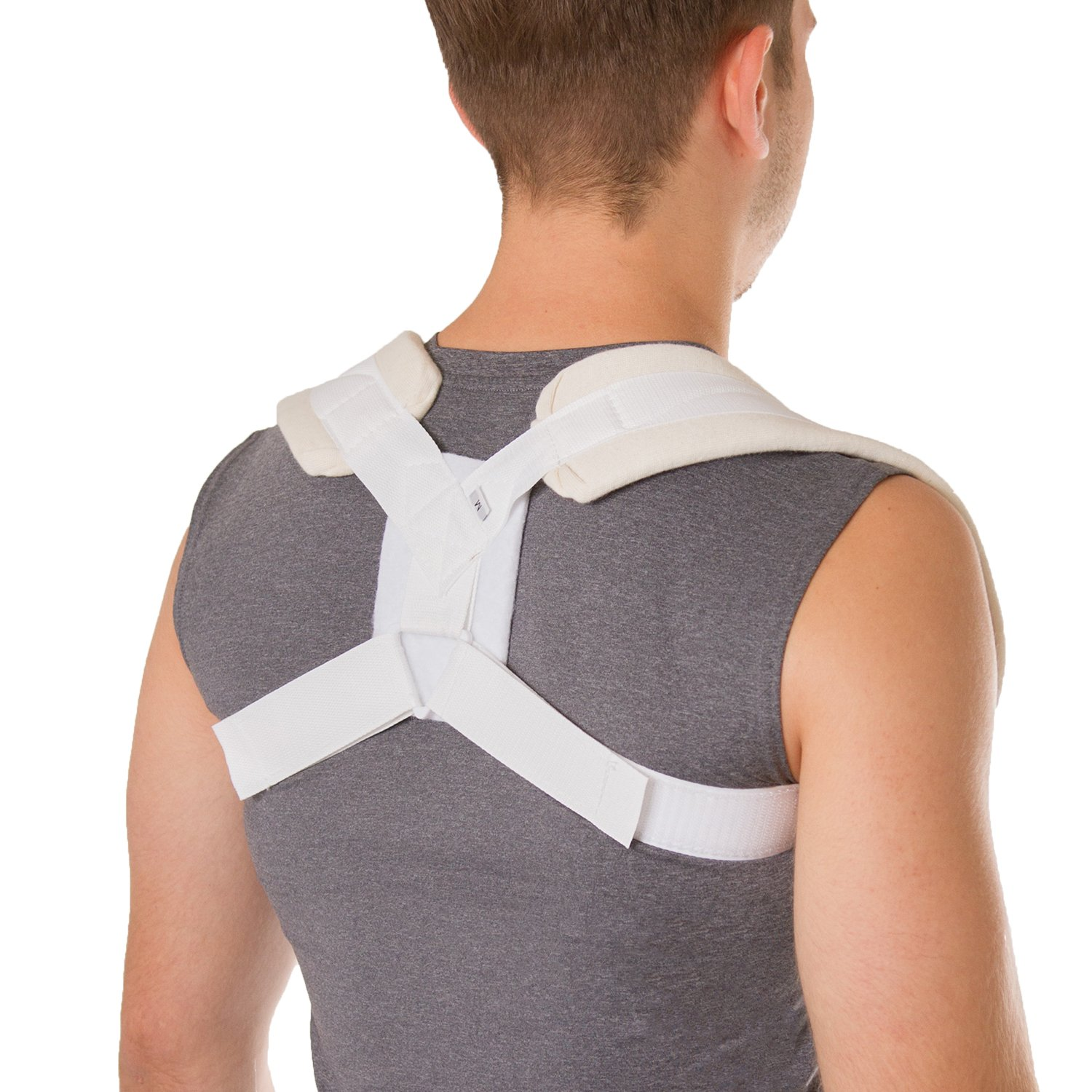 BraceAbility Figure 8 Clavicle Brace & Posture Corrector | Broken Collarbone Sling for Injuries & Fractures, Shoulder Support Strap for Upper Back Straightening (XL) by BraceAbility