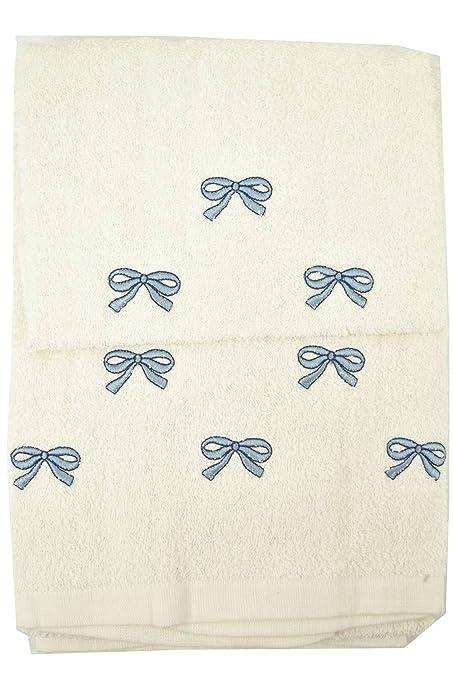 Toallas toalla con Bordado - Cara+Bidet, Azul Marino, Copos de