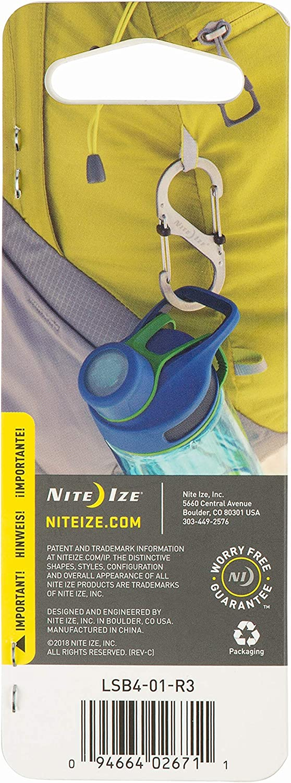 Nite Ize LSB4-11-R3 S-Biner Slide Lock Carabiner, Black, #4: Closet Storage And Organization Systems: Industrial & Scientific