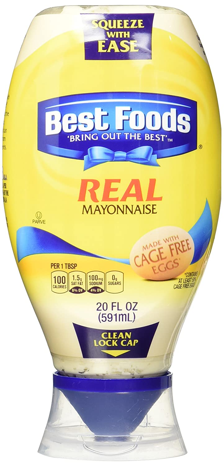 Best Foods Squeeze Real Mayonnaise, 20 Oz , (Pack of 3)