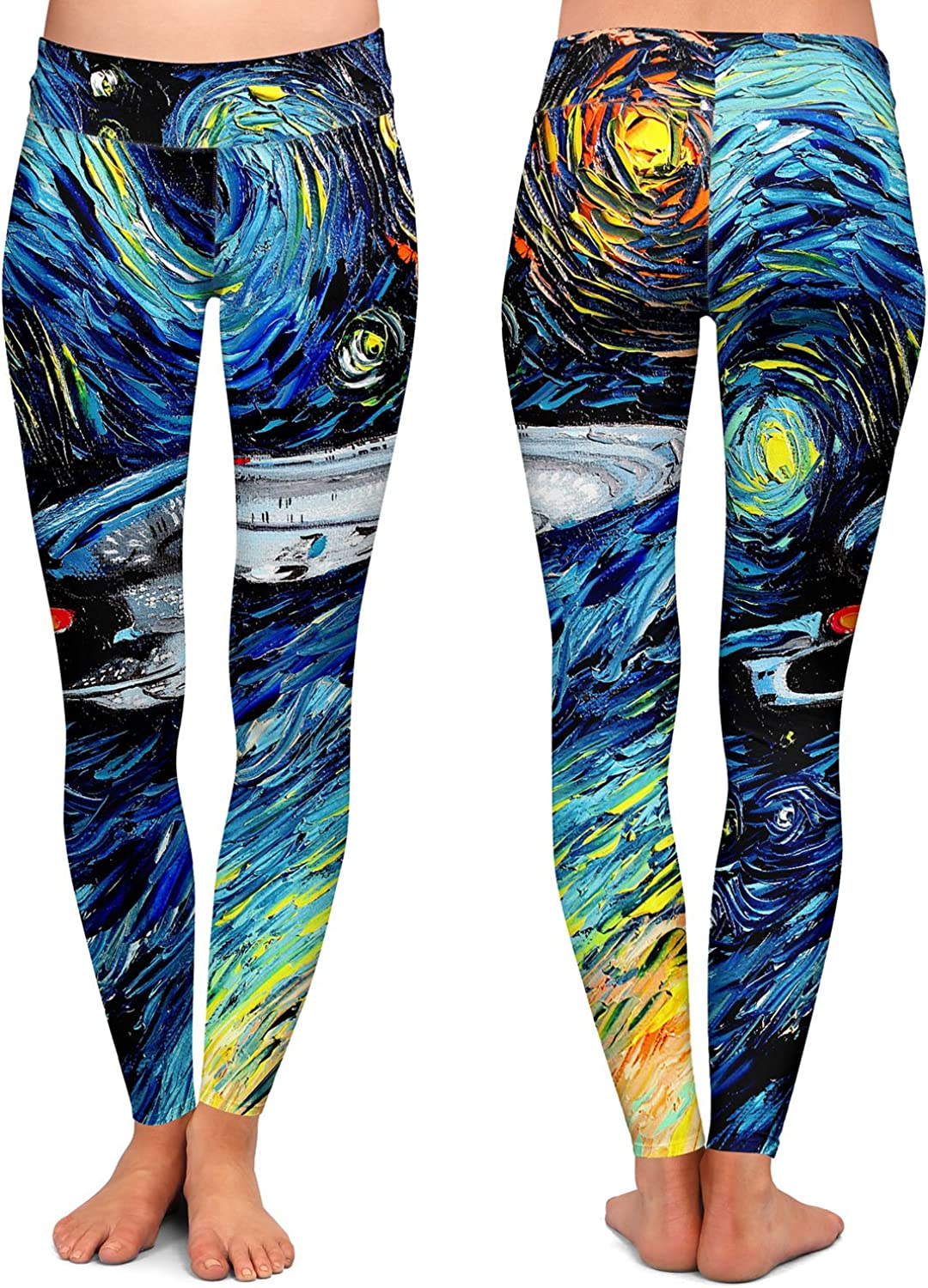 Passage to Hope Athletic Yoga Leggings from DiaNoche Designs by Philip Straub