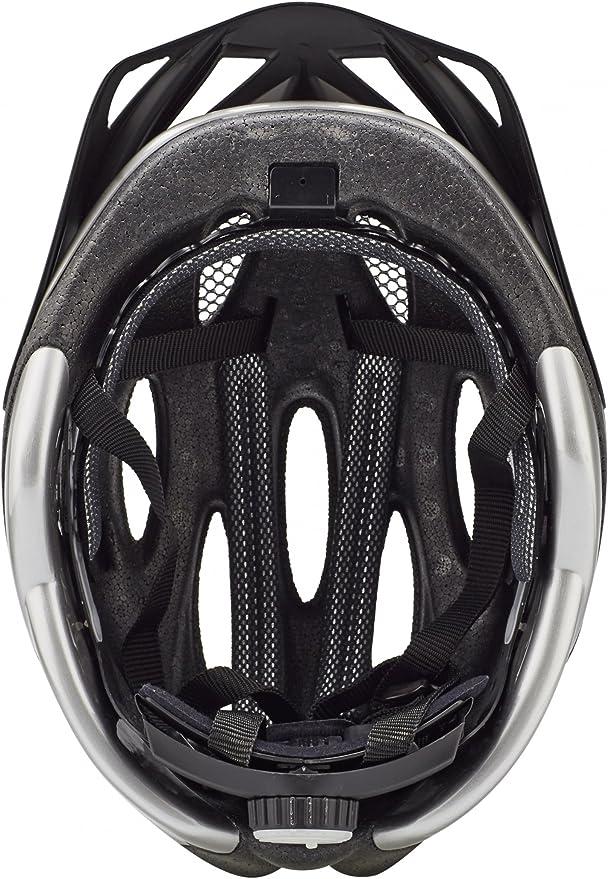 Nr 11 KED Fahrradhelm Joker 56-61 Black Silver Silber Schwarz  Gr