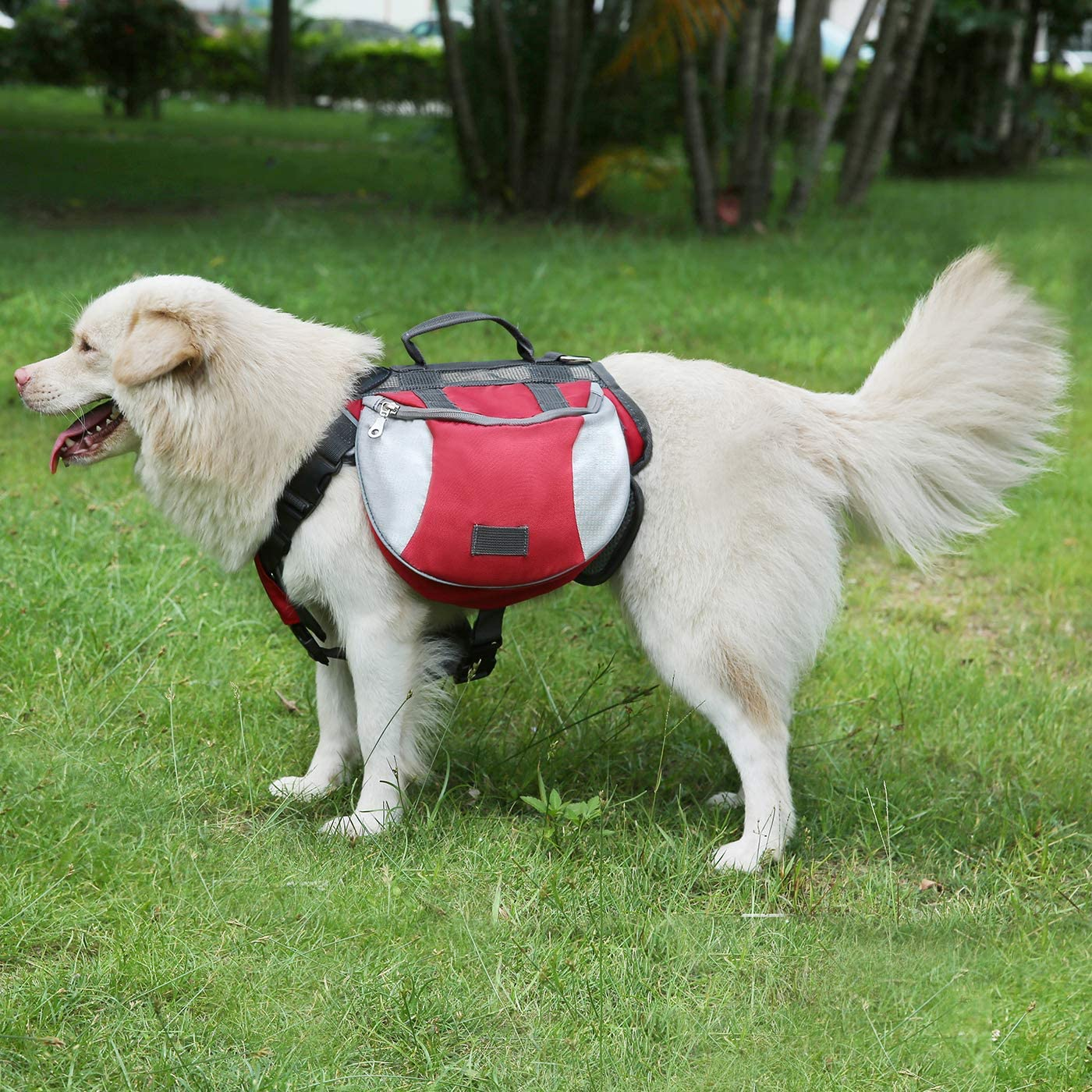 HDE Dog Backpack Vest Body Harness for Dogs Hiking Saddle Bag for Pet Training Camping