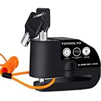 YOHOOLYO Candado Disco Moto con Alarma 7mm 110DB