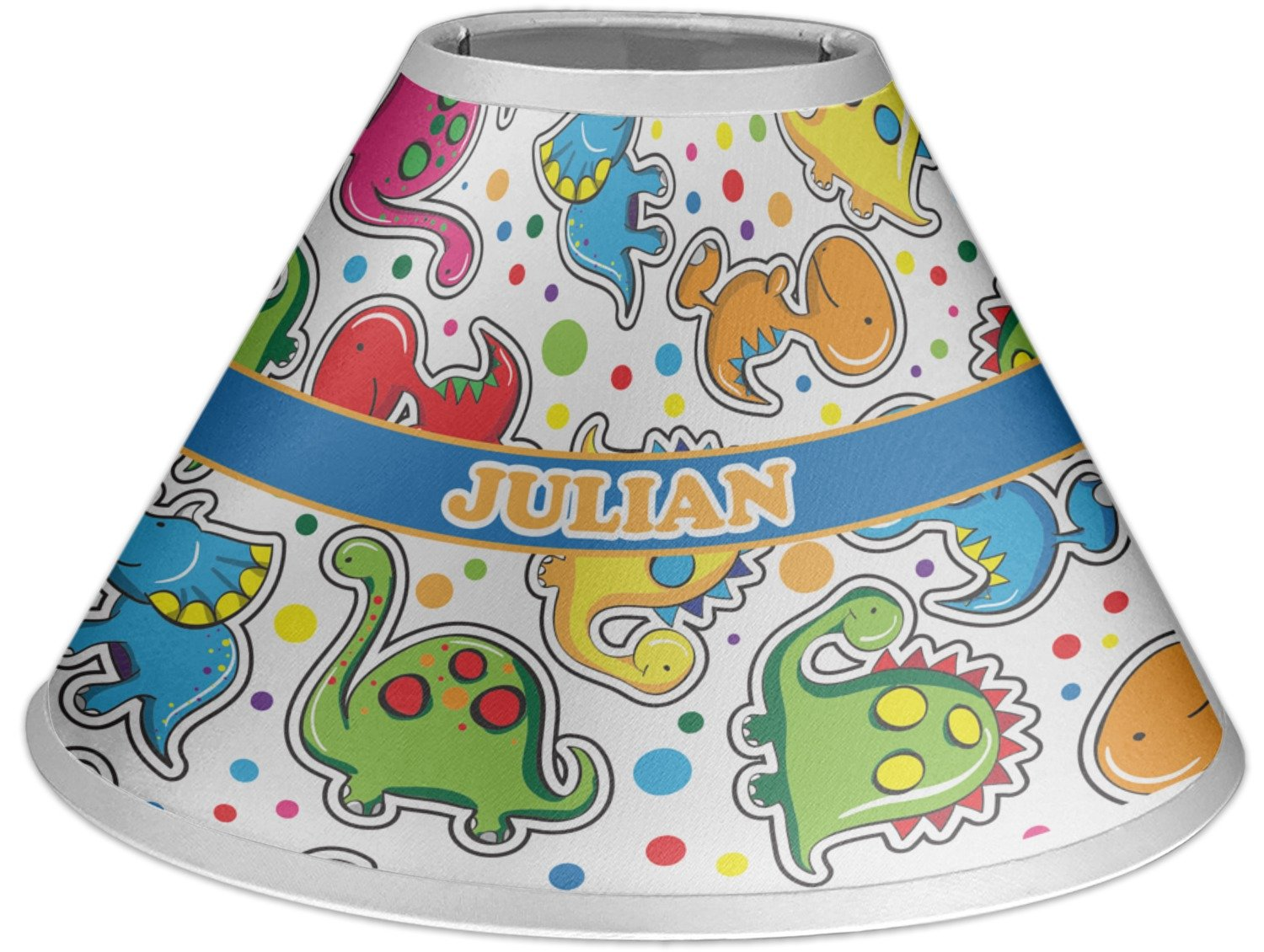 RNK Shops Dinosaur Print Coolie Lamp Shade (Personalized)