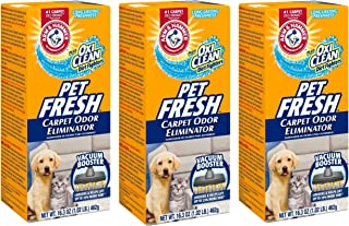 product image for Arm & Hammer Pet Fresh Carpet Odor Eliminator Plus Oxi Clean Dirt Fighters (Pack of 3), 48.9 Ounce