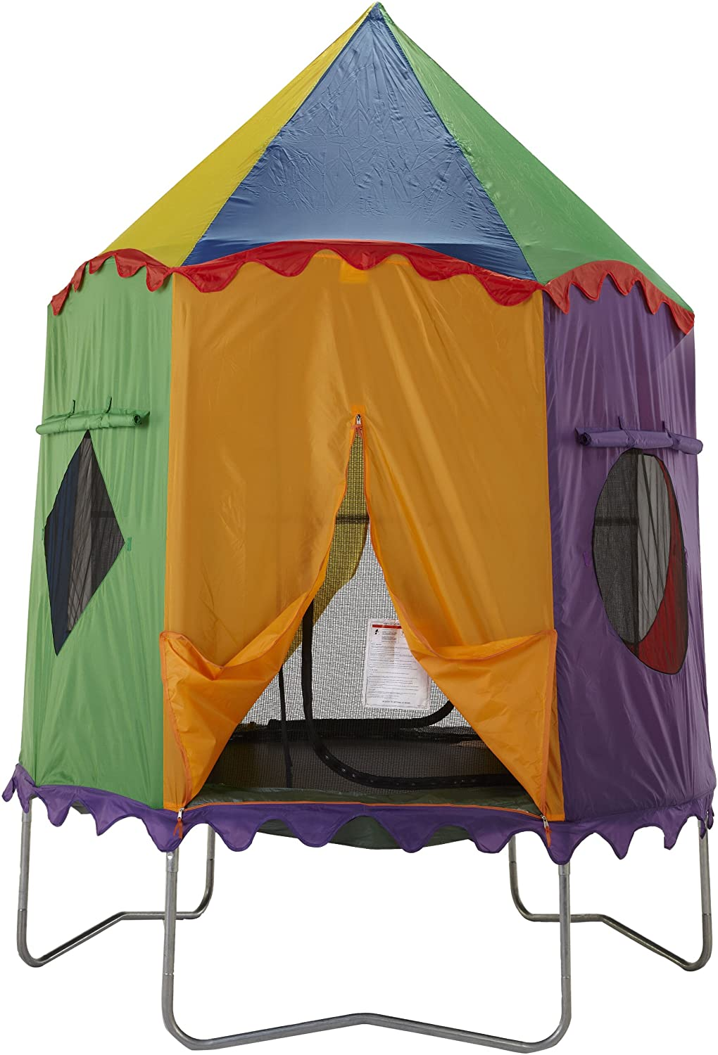 Amazon.com  Bazoongi Circus Tr&oline Tent for 7.5-Feet Jump Pod  Tr&oline Enclosures  Sports u0026 Outdoors  sc 1 st  Amazon.com & Amazon.com : Bazoongi Circus Trampoline Tent for 7.5-Feet Jump Pod ...