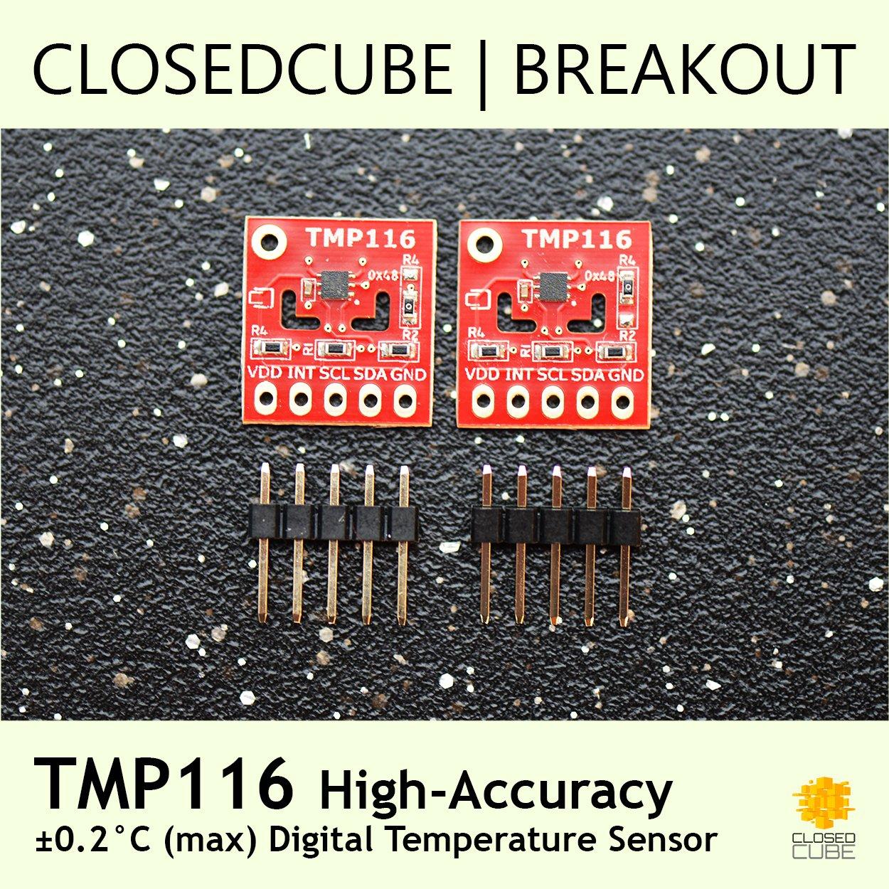 ClosedCube TMP116 High-Accuracy Low-Power Digital Temperature Sensor Breakout Boards (2 pcs)
