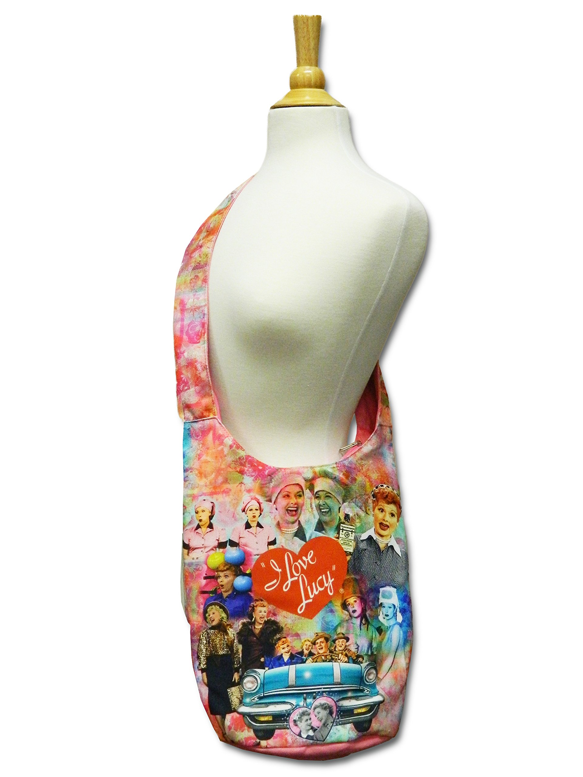 I Love Lucy Tote Bag With Colorful Collage