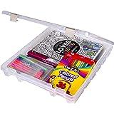 ArtBin 9100AB Super Satchel Slim 1 Open Compartment, Art & Craft Organizer, [1] Plastic Storage Case, Clear