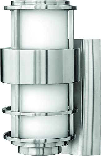 Hinkley 1900SS-LED Contemporary Modern One Light Wall Mount from Saturn collection in Pwt, Nckl, B S, Slvr.finish,