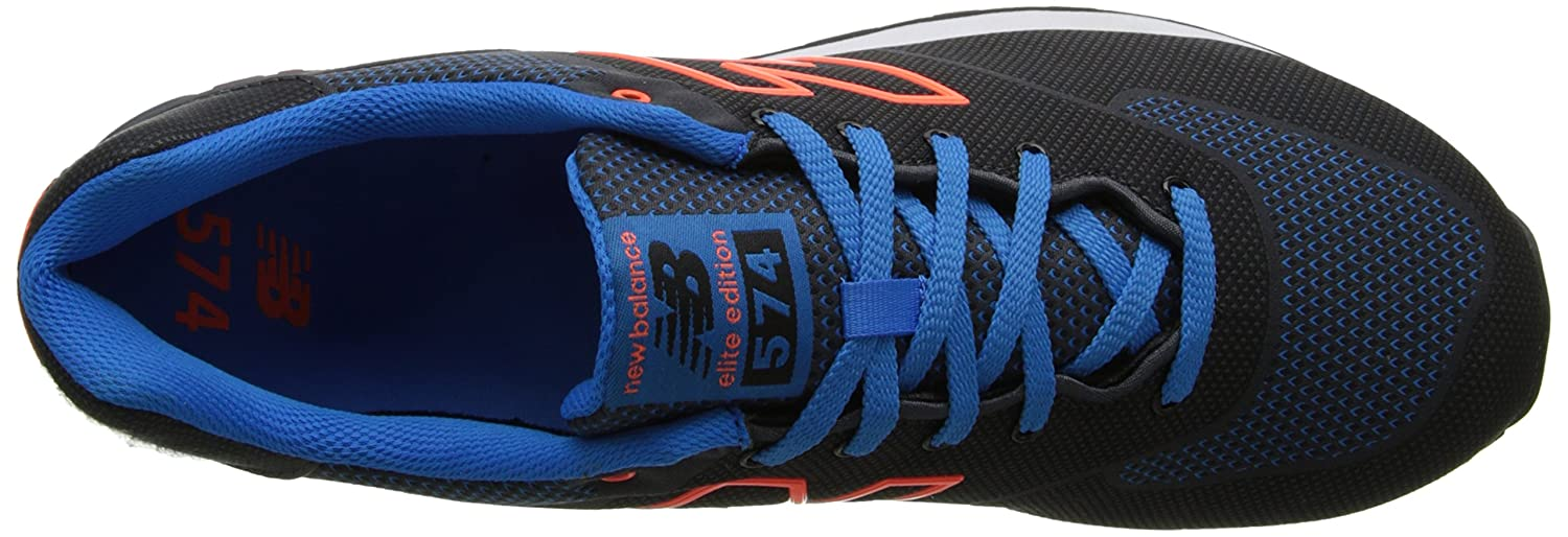 New Balance ML574 ala Schuhe Black Orange Blue 40: Amazon