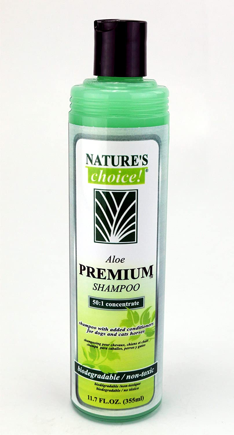 Amazon.com : Natures Choice Aloe Premium Shampoo 50:1 11.7 fl. oz. : Pet Supplies