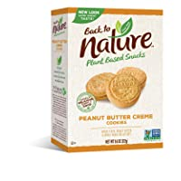 Deals on Back to Nature Cookies, Non-GMO Peanut Butter Creme 9.6 Oz