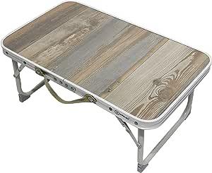 Homecall - Mesa de camping plegable de acero con superficie de MDF