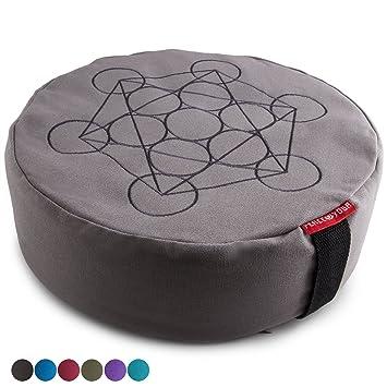 Amazon.com: Peace Yoga Zafu - Cojín de algodón con relleno ...
