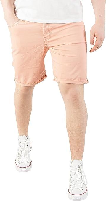 TALLA L. JACK & JONES Hombre Pantalones Cortos Rick Fit Comfort Originales, Rosado