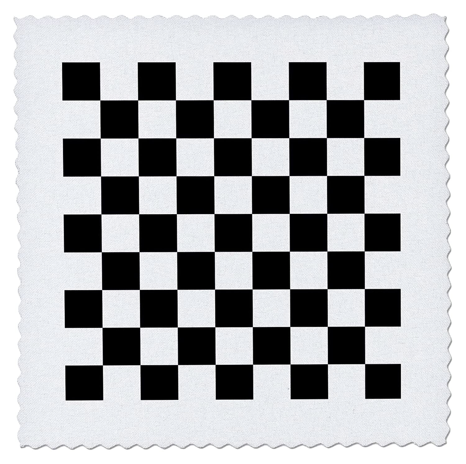 Amazon.com: 3dRose Check black and White Pattern - Checkered Checked ...