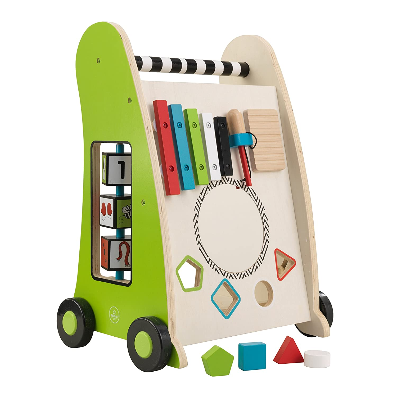KidKraft 63246 Chariot de jeu en bois /à pousser jeu d/éveil puzzle premier /âge jouets enfant