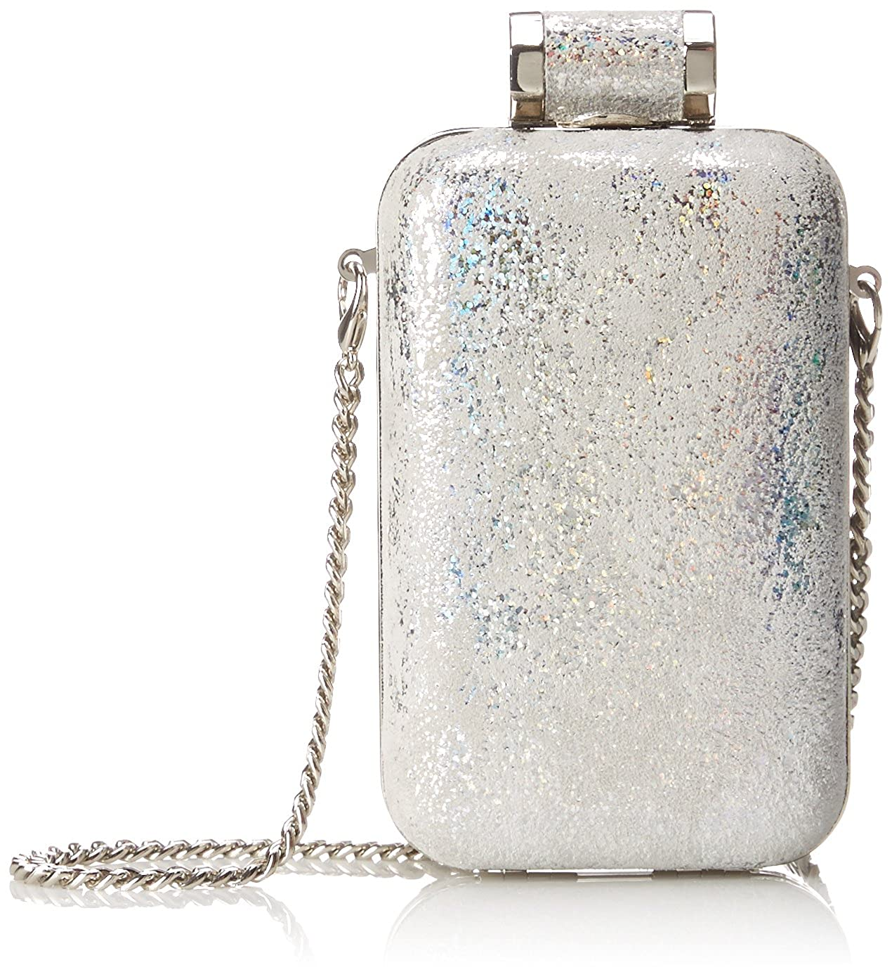 Halston Heritage Cellphone Minaudiere Evening Bag Silver One Size