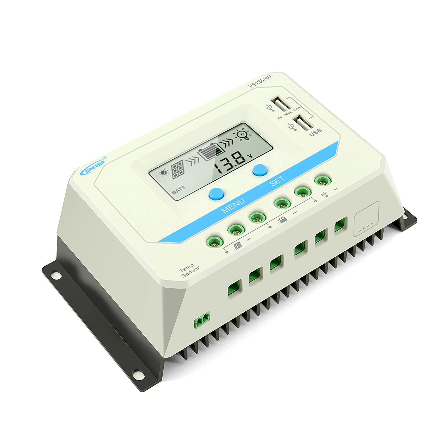 Epever Solar Charge Controller 45a Panel Street Lightsolar Led Light With 12 24v Circuitsolar 12v Battery Regulator Lcd Display Dual Usb Output For