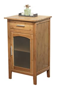 Target Marketing Systems Bamboo Cabinet Floor Cabinet, Natural