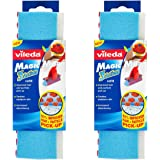 Vileda Magic Mop 3Action Refill, Blue, Pack of 2