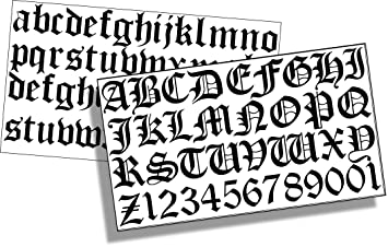 Easytime uk tm old english letters numbers 25mm black vinyl easytime uk old english letters numbers 25mm black vinyl sticky letters numbers altavistaventures Gallery
