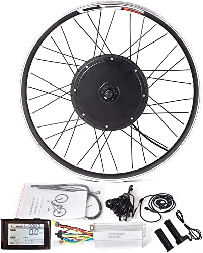 LOLTRA Ebike Rear Wheel Conversion Kit for 20 24 26 27.5 28 29 700C Mountain Electric Bicycle with Brushless Hub Motor and SW900 Display