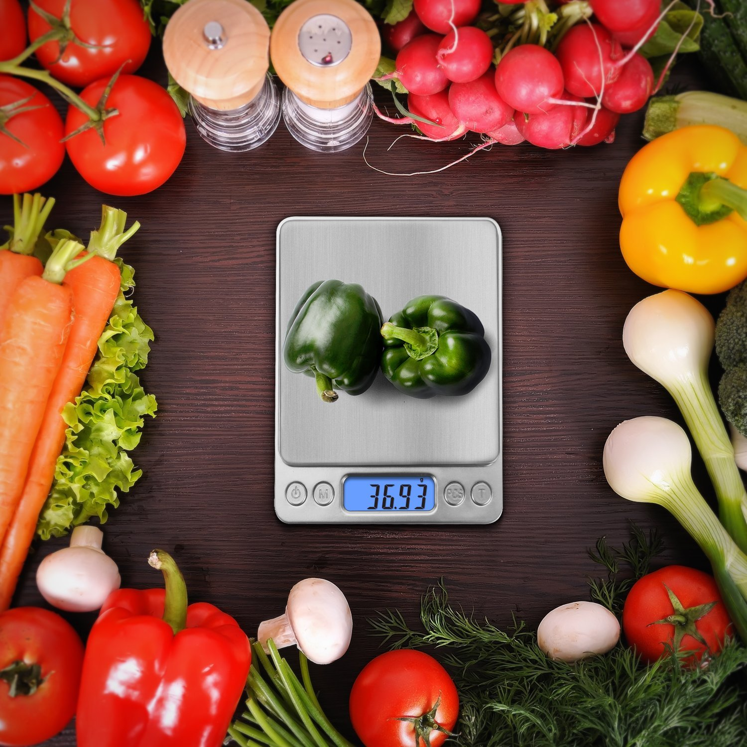 Next-Shine 500g Digital Weight Scale with Tare Function, Stainless Steel