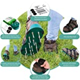 Lawn Aerator Spike Shoes - For Effectively Aerating Lawn, Soil - With 3 Adjustable Straps & Heavy Duty Plastic Buckles - Universal Size that Fits all - For a Greener and Healthier Yard & Garden Tool