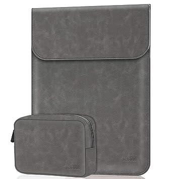13 Pulgadas Funda Ordenador Portátil,Cuero Maletín de con Bolsa de Accesorios Pequeña para MacBook Air/Pro 13,DELL XPS 13,HP Envy x360 13 ASUS ZenBook ...