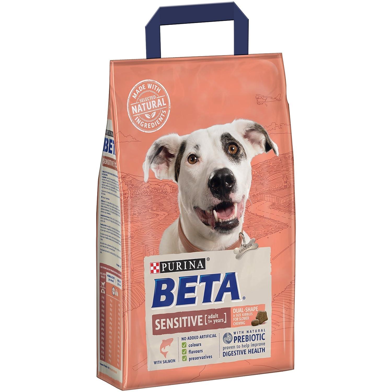 PURINA BETA Adult Sensitive Dry Dog Food with Salmon, 14 kg Nestle Purina