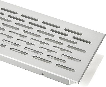 SO-TECH/® Rejilla de Ventilaci/ón Placa del Puente Paneles de Ventilaci/ón Malla perforada Aluminio EV1 Oval 250 mm