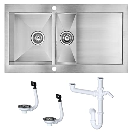 Cooke And Lewis Kitchen Sinks Professional cooke lewis unik kitchen sink with a satin finish professional cooke lewis unik kitchen sink with a satin finish 15 bowl with reversible workwithnaturefo