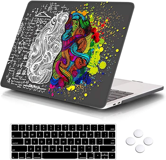 "MacBook Pro 13 Case 2020 Release A2289/A2251, DQQH Rubberized Plastic Hard Shell Cover with Keyboard Cover for Apple New Mac Pro 13 inch (MacBook Newest Pro 13"" A2289/A2251, Black Brain)"