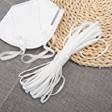 Elastic, XuTech White Elastic Cord Earloop for DIY 【20M】 with 2 Aluminum Nose Wire Strips Bridges(2020 AU New)