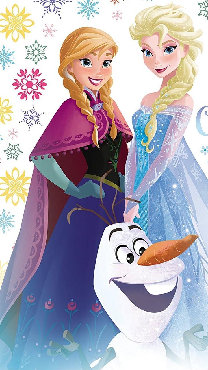 ディズニー Hd 720 1280 壁紙 アナと雪の女王 オラフ アナ エルサ