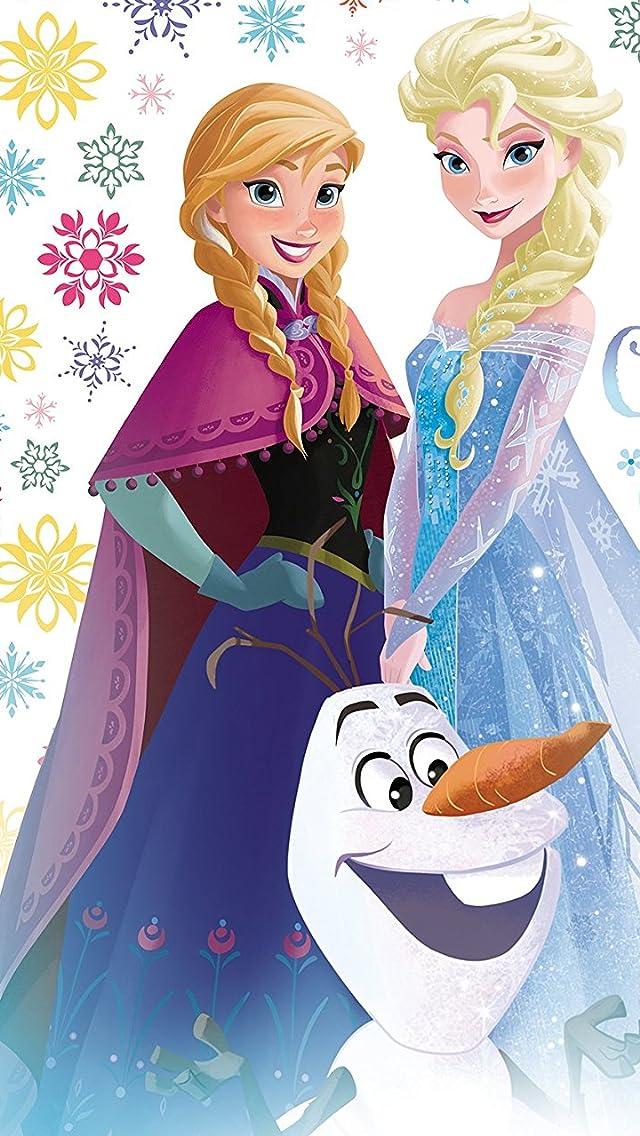 ディズニー 『アナと雪の女王』オラフ,アナ,エルサ iPhoneSE/5s/5c/5(640×1136)壁紙画像