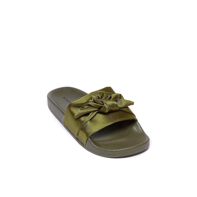 Sandalo con Decorazione Ribbon di di di colore Kaki. Ribbon Sandal Kaki. Donna. 072976