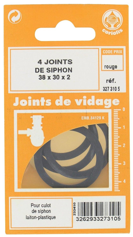 Diam/ètre Ext/érieur : 38 mm Joint de culot de siphon Gripp Vendu par 4 Int/érieur : 30 mm