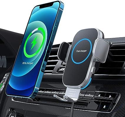 Hinyx Kabelloses Auto Ladegerät Auto Handyhalterung Mit Ladefunktion Automatischer Induktion Qi 15w Fast Wireless Charger Auto Für Iphone 12 Pro Max Xs 11 X 8 Samsung S20 Note10 Huawei Lg Usw Elektronik