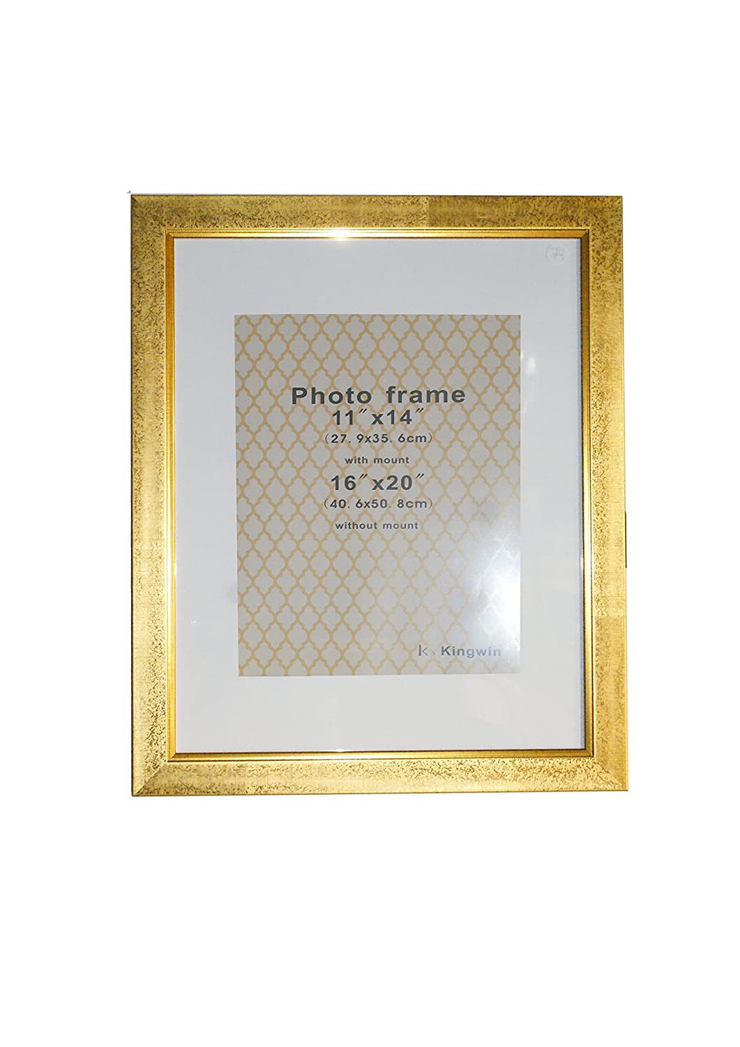 Amazon kingwin picture frame pf41007 gold with white mat 16 amazon kingwin picture frame pf41007 gold with white mat 16x20 gold jeuxipadfo Gallery