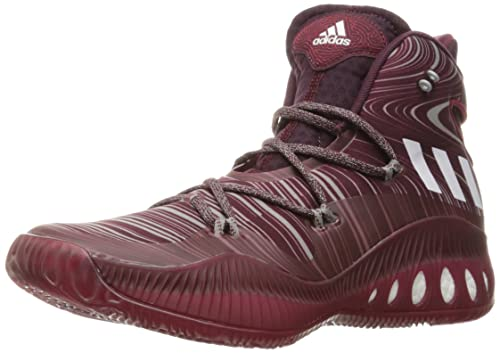 adidas Performance Men's Shoes | Crazy Explosive Basketball, Maroon/White/Cardinal,  (