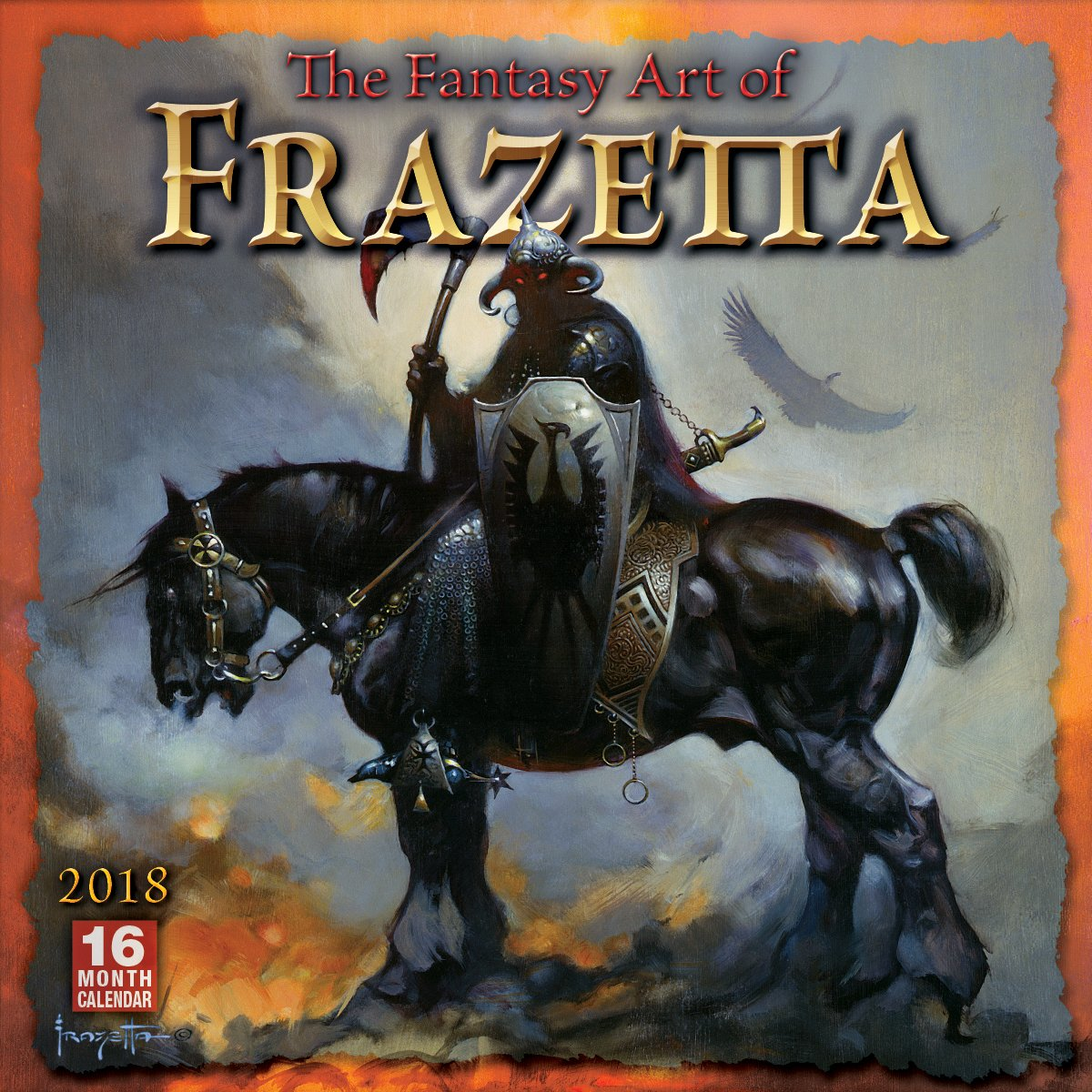 Read Online The Fantasy Art of Frazetta 2018 Wall Calendar (CA0166) pdf epub