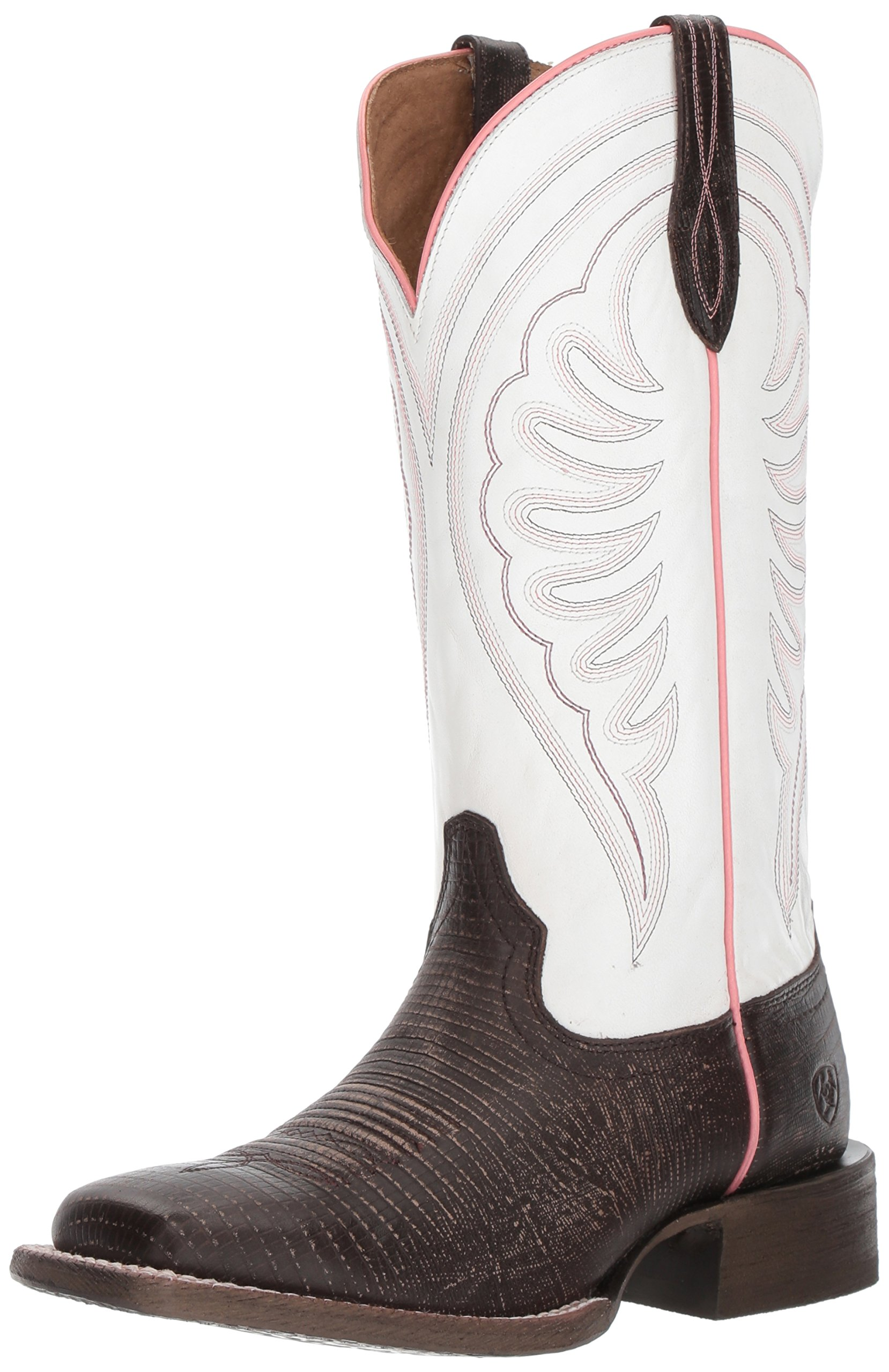 Ariat Women's Circuit Shiloh Work Boot, Chocolate Lizard Print, 8 B US