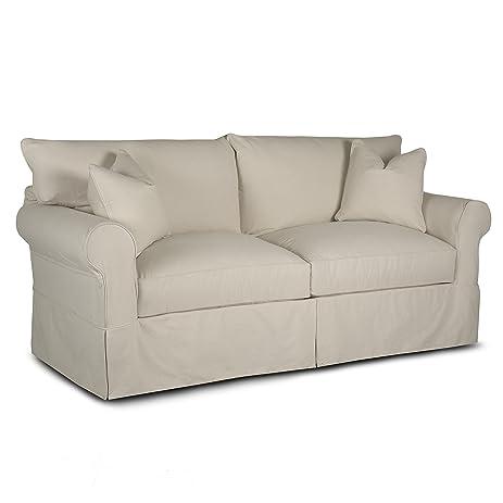 Klaussner Jenny Slipcovered Sofa, Natural
