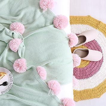 Liuyin Baumwolle Decken Bett Uberwurf Decke Warm Balle