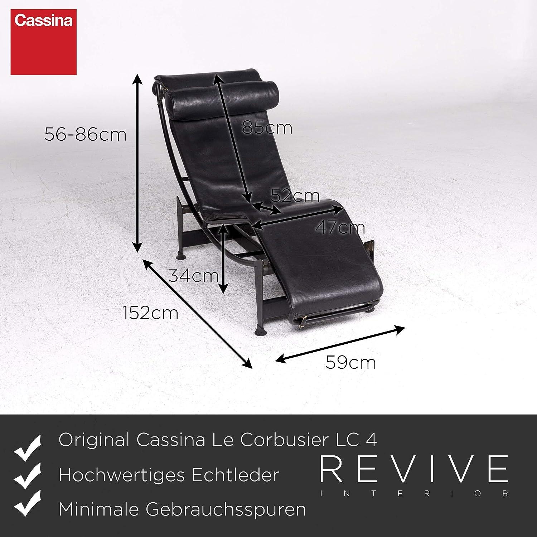 Cassina Le Corbusier LC 4 Designer Leather Lounger Black ...