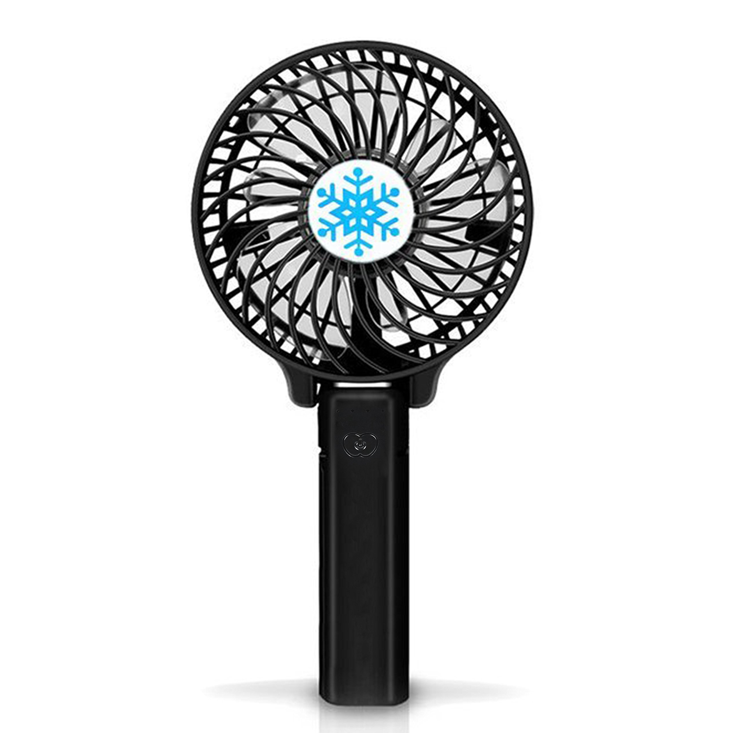 Mini Portable Fan with LED Light,Collapsible Personal Fan USB Rechargeable Battery,18650 Lithium Rechargeable Battery,Lightweight Handheld Cooling Fan,Adapt to Outdoor sports,shopping,travel,office by YONGYUAN (Image #1)